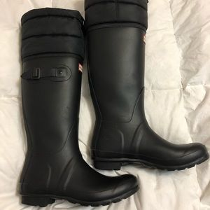 Original Hunter Quilted Cuff Boot size 8